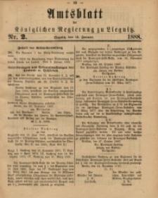 Amtsblatt der Königlichen Regierung zu Liegnitz, 1888, Jg. 78, Nr. 2