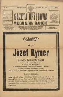 Gazeta Urzędowa Województwa Śląskiego, 1922, R. 1, nr 30