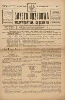 Gazeta Urzędowa Województwa Śląskiego, 1922, R. 1, nr 31/32