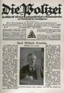 Die Polizei, 1921/1922, Jg. 18, Nr. 18