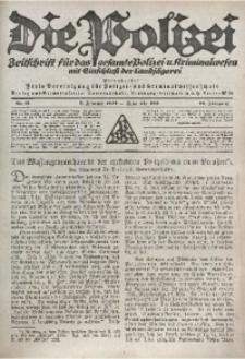 Die Polizei, 1921/1922, Jg. 18, Nr. 21