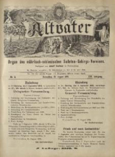 Altvater : organ des mährisch-schlesischen Sudeten-Gebirgs-Vereines. Jg. 13, nr 4.