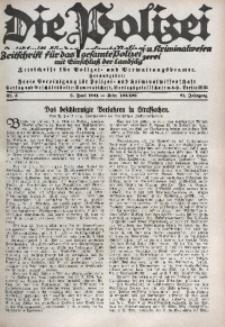 Die Polizei, 1924/1925, Jg. 21, Nr. 5