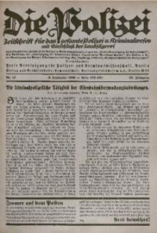 Die Polizei, 1926, Jg. 23, Nr. 17