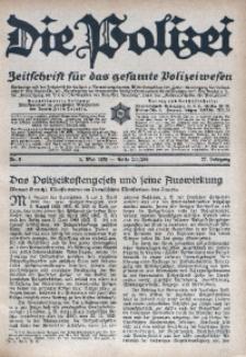 Die Polizei, 1930, Jg. 27, Nr. 9