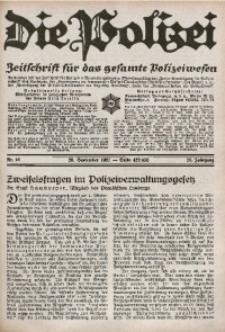 Die Polizei, 1931, Jg. 28, Nr. 18