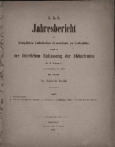 Jahresbericht des Königlichen Katholischen Gymnasiums zu Leobschütz, 1864.