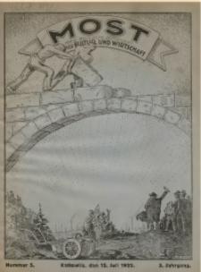 Most, 1922, Jg. 3, Nr. 5