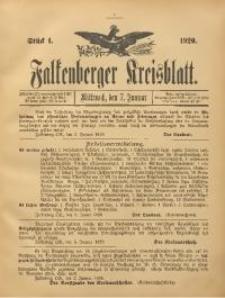 Falkenberger Kreisblatt, 1920, St. 1