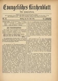 Evangelisches Kirchenblatt für Schlesien, 1911, Jg. 14, Nr. 31