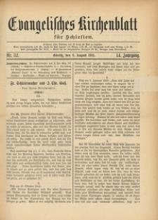 Evangelisches Kirchenblatt für Schlesien, 1911, Jg. 14, Nr. 32