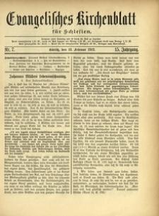 Evangelisches Kirchenblatt für Schlesien, 1912, Jg. 15, Nr. 7
