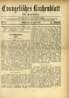 Evangelisches Kirchenblatt für Schlesien, 1912, Jg. 15, Nr. 16