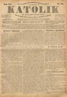 Katolik, 1913, R. 46, nr 58