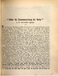 Ueber die Zusammensetzung der Verba in der lateinischen Sprache.