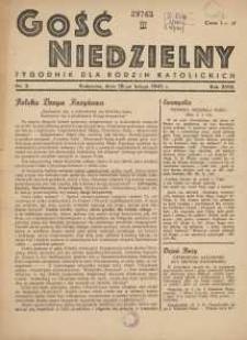 Gość Niedzielny, 1945, R. 18, nr 2