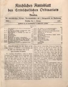 Kirchliches Amtsblatt des Erzbischöflichen Ordinariats in Breslau, 1937, St. 1
