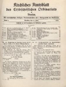 Kirchliches Amtsblatt des Erzbischöflichen Ordinariats in Breslau, 1938, St. 9