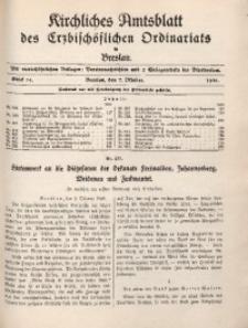 Kirchliches Amtsblatt des Erzbischöflichen Ordinariats in Breslau, 1938, St. 14