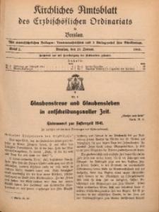 Kirchliches Amtsblatt des Erzbischöflichen Ordinariats in Breslau, 1941, St. 2