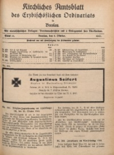 Kirchliches Amtsblatt des Erzbischöflichen Ordinariats in Breslau, 1941, St. 16