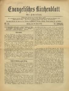 Evangelisches Kirchenblatt für Schlesien, 1918, Jg. 21, Nr. 22