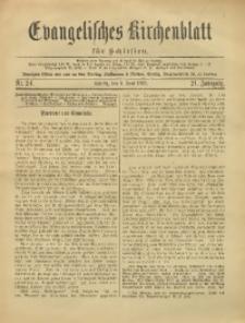 Evangelisches Kirchenblatt für Schlesien, 1918, Jg. 21, Nr. 24