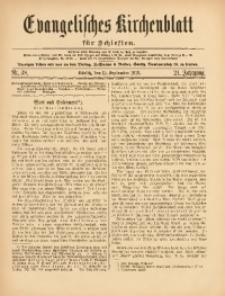 Evangelisches Kirchenblatt für Schlesien, 1918, Jg. 21, Nr. 38