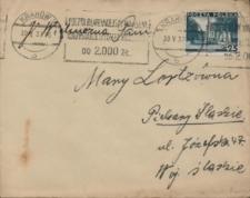 List Pawła Grzegorza Słani do Marii Lortz z 30 maja 1937 roku