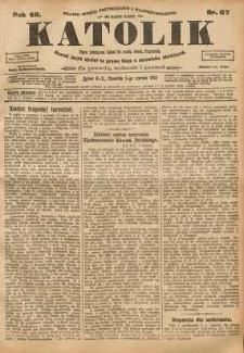 Katolik, 1913, R. 46, nr 67