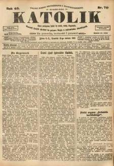 Katolik, 1913, R. 46, nr 70