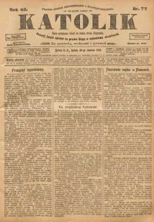 Katolik, 1913, R. 46, nr 77
