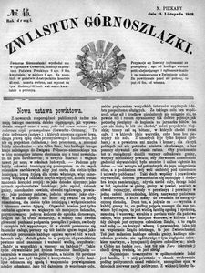 Zwiastun Górnoszlązki, 1869, R. 2, nr 46