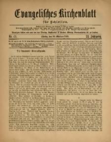 Evangelisches Kirchenblatt für Schlesien, 1919, Jg. 22, Nr. 43