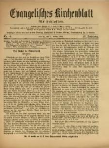 Evangelisches Kirchenblatt für Schlesien, 1922, Jg. 25, Nr. 10
