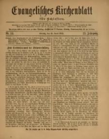 Evangelisches Kirchenblatt für Schlesien, 1922, Jg. 25, Nr. 24