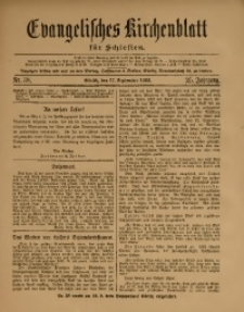 Evangelisches Kirchenblatt für Schlesien, 1922, Jg. 25, Nr. 38