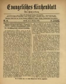 Evangelisches Kirchenblatt für Schlesien, 1922, Jg. 25, Nr. 41