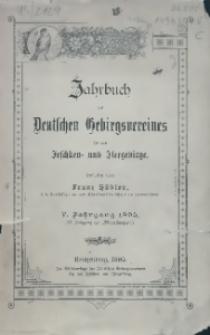 Jahrbuch des Deutschen Gebirgsvereines für das Jeschken- und Iser-Gebirge, 5. Jg. 1895