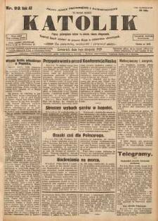 Katolik, 1929, R. 62, nr 92