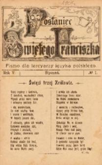 Posłaniec Świętego Franciszka, 1907, R. 5, no 1