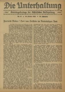 Die Unterhaltung, 1931, Jg. 63, Nr. 43