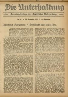 Die Unterhaltung, 1931, Jg. 63, Nr. 47