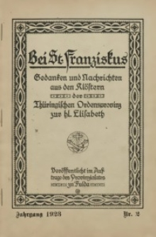 Bei St. Franziskus, 1923, Jg. 3, Nr. 2