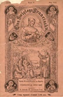 Głos Świętego Franciszka, 1912, R. 5, z. 5