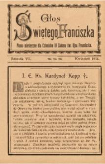 Głos Świętego Franciszka, 1914, R. 7, z. 4