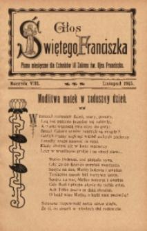 Głos Świętego Franciszka, 1915, R. 8, z. 11