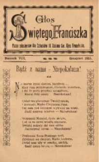 Głos Świętego Franciszka, 1915, R. 8, z. 12