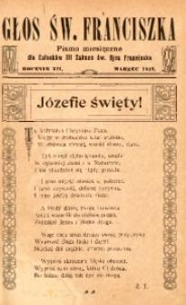 Głos Świętego Franciszka, 1919, R. 12, z. 3
