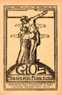 Głos Świętego Franciszka, 1924, R. 17, z. 10